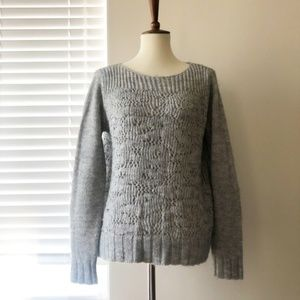 Lou & Grey Soft Light Grey Knit Thick Sweater LOFT